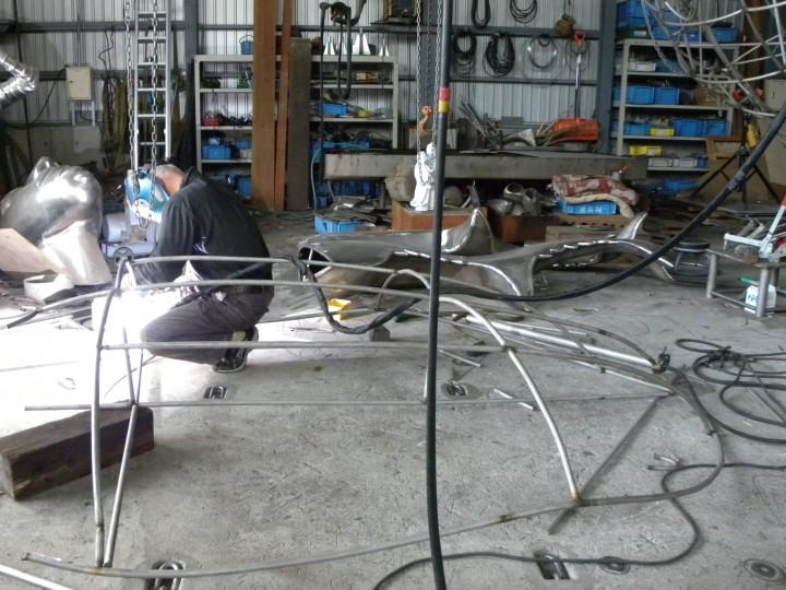 クワガタムシの胴体